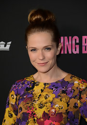 Katie Aselton opted for a fairly simple hairdo with this classic top knot bun.