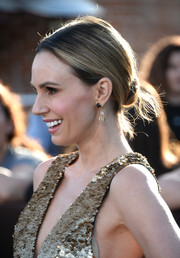 Keltie Knight sported a simple yet chic low hair knot at the 'Divergent' premiere.