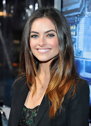 Brooke Lyons wore her long, ombre locks sleek and straight at the premiere of 'Man on a Ledge.'