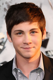Logan Lerman attended the premiere of 'Source Code' wearing his hair in a slightly tousled side-parted style.