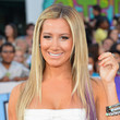 Ashley Tisdale's Sleek Purple Streaks