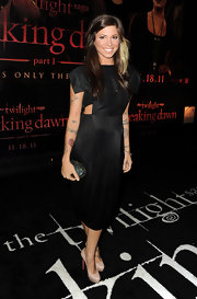 Songstress Christina Perri wore a sleek cutout LBD for the 'Twilight' premiere in LA.