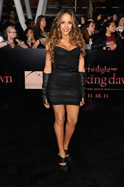 Dania Ramirez looked edgy in a strapless black dress with elbow-length leather gloves.