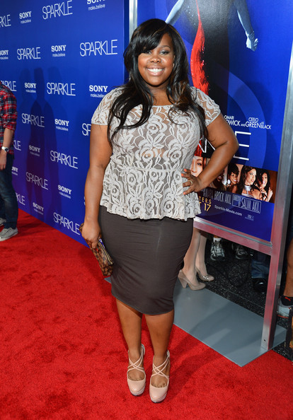 More Pics of Amber Riley Long Wavy Cut with Bangs (2 of 2) - Amber Riley Lookbook - StyleBistro