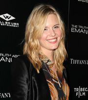 Maggie Grace attended the premiere of 'The Truth About Emanuel' wearing her hair in punky waves.