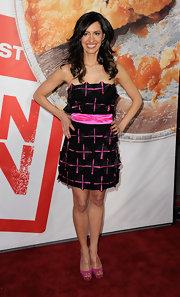 Charlene Amoia wore a pretty pair of pink platform peep toes to the premiere of 'American Reunion.'