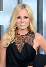 Malin Akerman wore her hair in long layered waves for the LA premiere of 'Battleship.'
