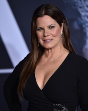 Marcia Gay Harden looked simply stylish with her straight, center-parted layers at the premiere of 'Fifty Shades Darker.'
