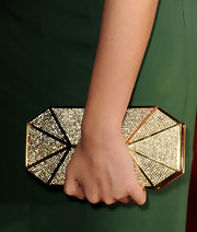 Genesis Rodriguez carried a glam rhinestone inlaid clutch at the premiere of 'Identity Theft.'