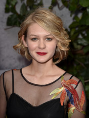 Ryan Simpkins styled her hair into a feathery bob for the premiere of 'Jurassic World.'