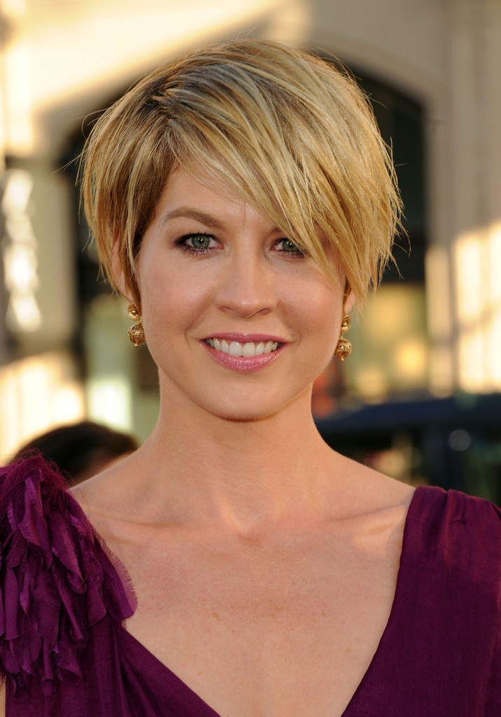 More Pics Of Jenna Elfman Messy Cut 9 Of 10 Short Hairstyles