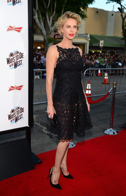 Charlize Theron donned a heart-stopper of a dress for the premiere of 'A Million Ways to Die in the West,' a hot-off-the-runway Christian Dior LBD.
