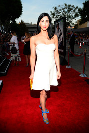 Sarah Silverman was sexy-chic in a white Prada strapless dress during the premiere of 'A Million Ways to Die in the West.'