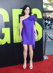 Mary-Louise Parker looked pretty in a one-shoulder dress at the premiere of 'Savages.'