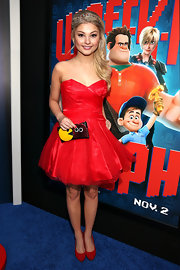 Stefanie Scott was ravishing in a red strapless cocktail dress at the premiere of 'Wreck-It Ralph.'