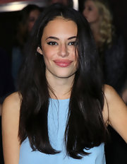 Chloe Bridges attended the premiere of 'John Carter' wearing her long shiny hair straight and with a casual center part.