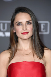 Rachael Leigh Cook looked stylish with her sleek straight 'do at the premiere of 'Rogue One: A Star Wars Story.'