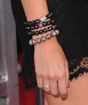 Stephanie Pratt showed off her gemstone encrusted beaded bracelets.