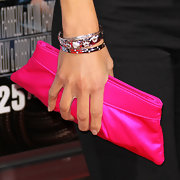 Maria decked out her arm with silver bangle bracelets at the premiere of 'Hall Pass.'