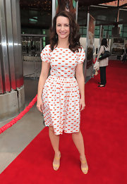 Kristin Davis is pucker perfect in a lip print frock at the 'Born to be Wild 3-D' premiere.