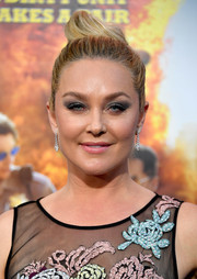 Elisabeth Rohm worked an elegant top knot at the premiere of 'CHiPS.'