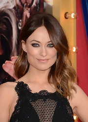 Olivia Wilde showed off her highlighted locks with a wavy 'do.