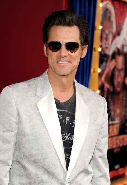 Jim Carrey sported a pair of classic aviator shades at the premiere of 'The Incredible Burt Wonderstone.'