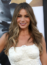 Sofia Vergara attended the premiere of 'Magic Mike XXL' wearing her signature center-parted waves.