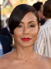 Jada Pinkett Smith styled her hair into a neat side-parted 'do for the premiere of 'Magic Mike XXL.'