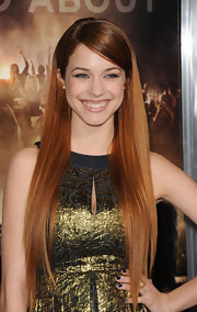 Alexis Knapp wore her ultra-long hair sleek and straight at the premiere of 'Project X.'