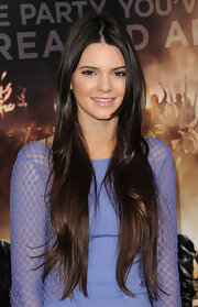 Kendal Jenner wore her lengthy locks straight and with a center part at the premiere of 'Project X.'
