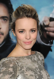 Rachel McAdams wore her hair in a sweet bobby pinned updo at the premiere of 'Sherlock Holmes: A Game of Shadows.'