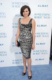 Lana Parrilla's gray leopard-print dress at the premiere of 'Something Borrowed' was more sexy-chic than wild.