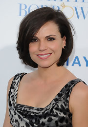 Lana Parrilla went for an ultra-feminine look with a high-volume bob and a sexy dress.