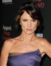 Juliette Lewis topped off her princess-inspired look with a loose wavy updo, complete with a tiara, when she attended the 'August: Osage County' LA premiere.