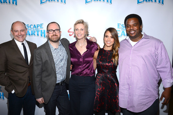 More Pics of Jane Lynch Messy Cut (1 of 4) - Jane Lynch Lookbook - StyleBistro [escape from planet earth,red carpet,event,social group,community,youth,fun,team,premiere,smile,cal brunker,rob corddry,actors,jane lynch,l-r,the weinstein company,premiere,premiere]