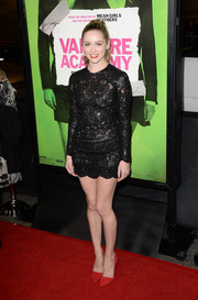 Greer Grammer looked oh-so-hot at the 'Vampire Academy' premiere in a super-short, tight-fitting beaded LBD.