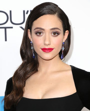 Emmy Rossum topped off her dramatic beauty look with a sexy red lip.