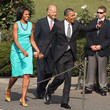 Michelle Obama in Tailored Turquoise