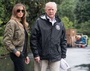 Melania Trump amped up the tough-chic vibe with a pair of aviators.