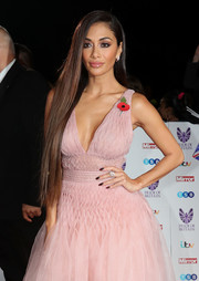 Nicole Scherzinger flaunted perfectly straight hair at the Pride of Britain Awards.