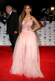 Nicole Scherzinger looked absolutely darling in a blush-colored princess gown by Ermanno Scervino at the Pride of Britain Awards.