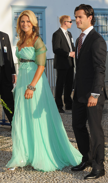 Prince Carl Philip Empire Gown [gown,dress,clothing,formal wear,aqua,lady,turquoise,shoulder,wedding dress,suit,nikolaos,madeleine of sweden,miss,karl philip,constantine of greece,service,greece,wedding,tatiana blatnik - wedding,wedding]
