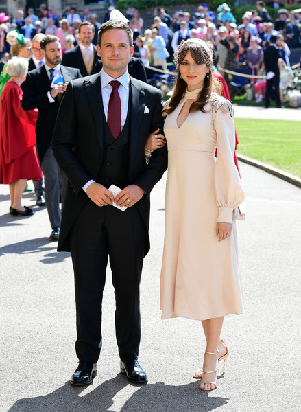 Patrick J. Adams And Troian Bellisario (in Temperley London)