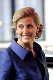 Sophie Countess of Wessex's chignon pulled her hair back nicely.