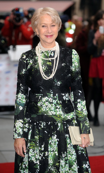 More Pics of Helen Mirren Print Dress (1 of 5) - Helen Mirren Lookbook - StyleBistro