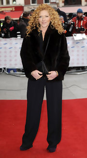 Kelly Hoppen chose a classic fur coat for her red carpet look at the Prince's Trust and Success Awards.