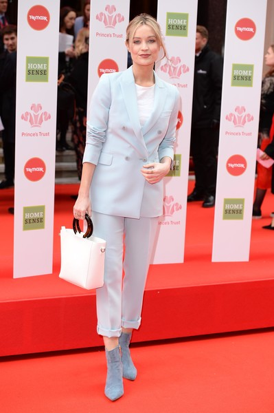 More Pics of Laura Whitmore Messy Updo (1 of 3) - Laura Whitmore Lookbook - StyleBistro [red carpet,carpet,clothing,red,skin,fashion,flooring,pantsuit,premiere,suit,laura whitmore,homesense awards,england,london,the palladium,the prince\u00e2,tkmaxx,princes trust]