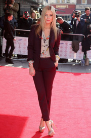 Nude peep-toe pumps seem to be a favorite for style star Laura Whitmore.