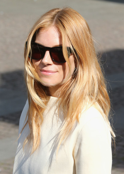 More Pics of Sienna Miller Long Wavy Cut (1 of 8) - Sienna Miller Lookbook - StyleBistro